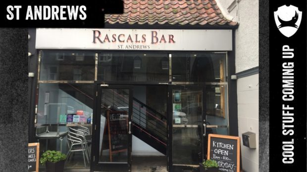 A slide shown at Brewdog's AGM which identified Rascals Bar as its St Andrews location.