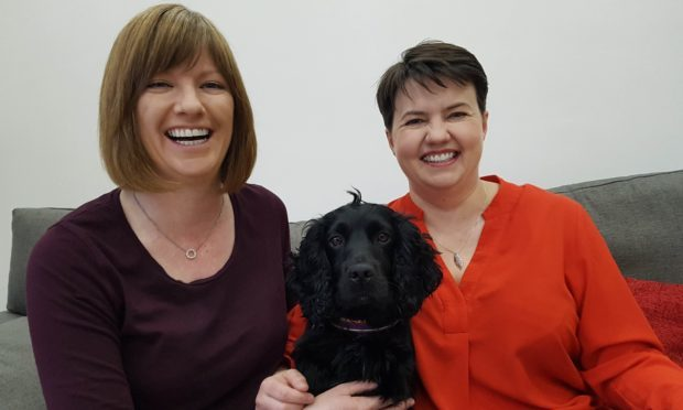 Ruth Davidson with partner Jen Wilson.