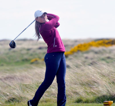 Shannon McWilliam, second and third in the Helen Holm in the last three seasons, is just two off the lead after the first round.