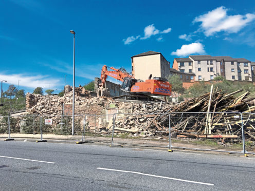 Demolition work at the Wallace Craigie Mill.