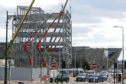 Controversial office block under construction opposite Dundee railway station