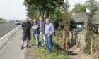 Residents Watty Garland and Dave Melville, with MSP Murdo Fraser and councillor Angus Forbes