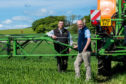 The field was sprayed with Cleancrop Alatrin together with sulphur, manganese and fungicides.