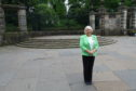 Councillor Helen Law at the designated spot for busking with amps