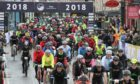 The first wave of riders set off for the 2018 Etape Caledonia