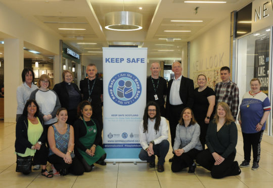 Keep Safe initiative at the Kingsgate Shopping Centre in Dunfermline.
