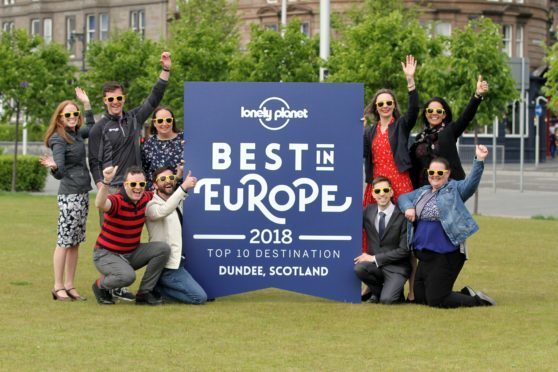 Local tourism leaders celebrate Dundee being named among the Best in Europe 2018 at Slessor Gardens