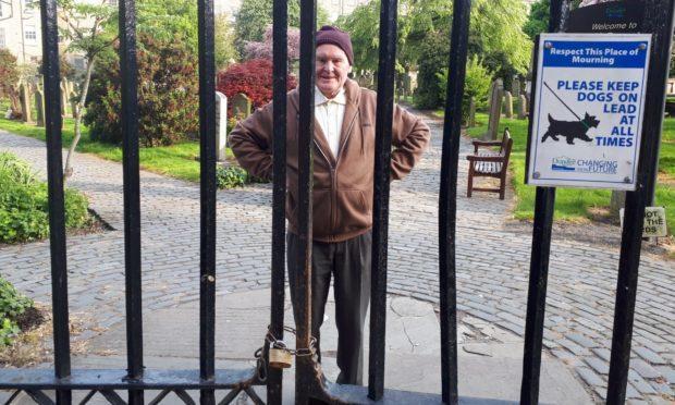 John Stewart was locked inside the Howff on Monday evening.