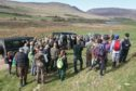 Local school children, land managers and guests learn about management for black grouse and rare wading birds in Strathbraan