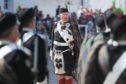 The Atholl Highlanders' Parade.