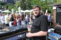 DJ Declan Whyte in the beer garden at Boozy Cow.