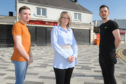 L-R: Steven O'Donnell Vicky Smith and Ewan Brown outside their premises