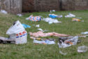 The ugly aftermath of rubbish left around Broughty Castle and beach after the bank holiday sunshine.