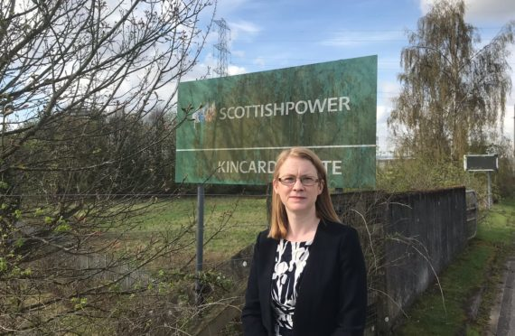 Shirley-Anne Somerville at the site