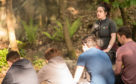 Natalie Brown at the forest school