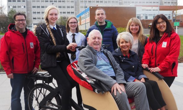 Norman Ridley gets ready to launch new cycling scheme.