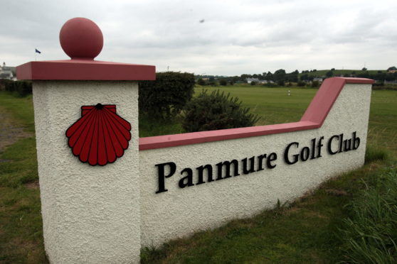 The entrance to Panmure Golf Club, at Barry.