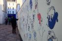 Art in the Skinnergate in Perth.