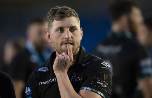 Finn Russell in pensive mood after Glasgow's PRO14 semi-final defeat on Friday.