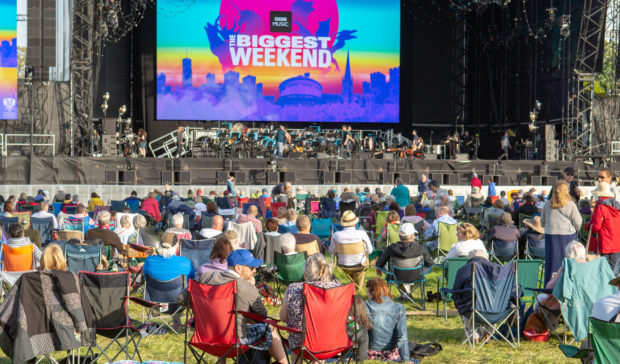 BBC's Biggest Weekend at Scone Palace.