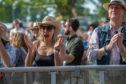 Fans enjoying Jamie Callum at Scone Palace.