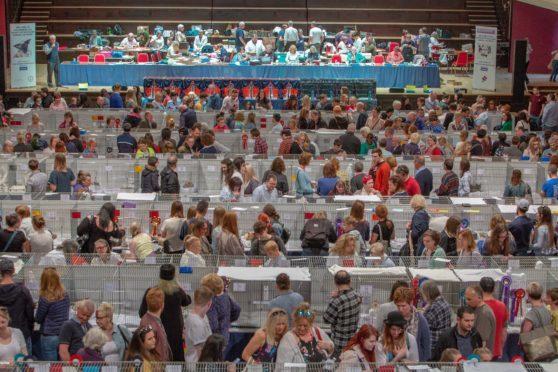 The Championship Cat Show drew large crowds.