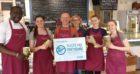 Staff at the Scottish Deli in Dunkeld.