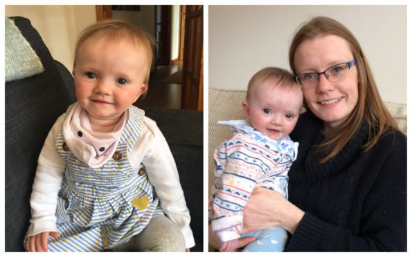 Perth mum Catriona Grant with baby Rosie.