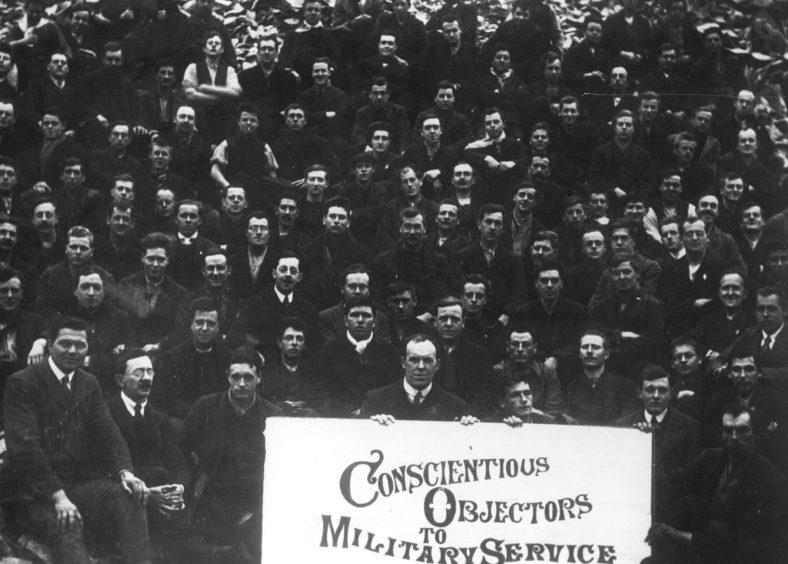 Conscientious objectors at Dyce Camp during the First World War