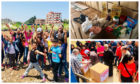 Sophia Younis and Aishah Anwar travelled to Lebanese refugee camps to deliver vital food packages to families