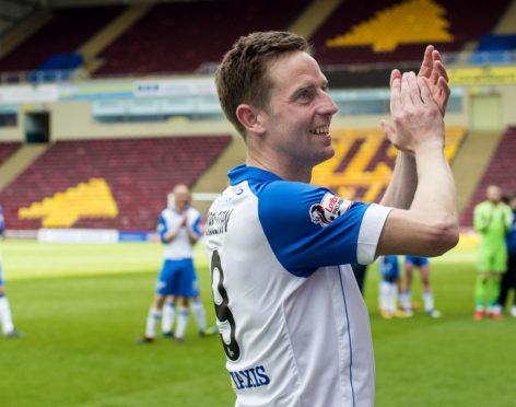 Steven MacLean thanks the St Johnstone fans.