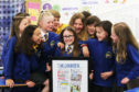 Rosie Donnelly, 9 with some of her class mates in P5/6.