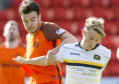 Sam Wardrop in action against Dundee United.