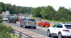 Broxden tailbacks in Perth at the weekend.