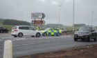 The A9 was closed at Blackford for about two hours on Friday.