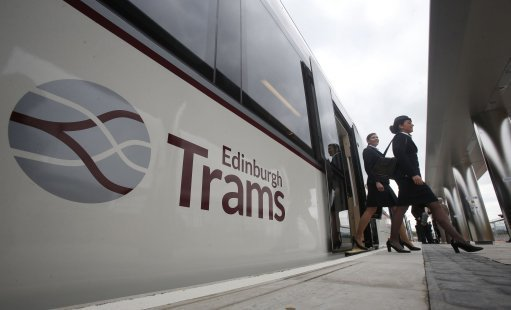 The tram was derailed