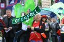 Dundonians take part in a silent march in memory of Grenfell tower victims