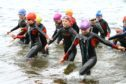 The Tristars take part in open water swimming at Monikie with Monifieth Triathlon Club.
