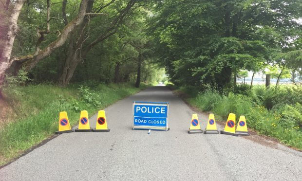 A fresh road closure has appeared near Loch of Kinnordy