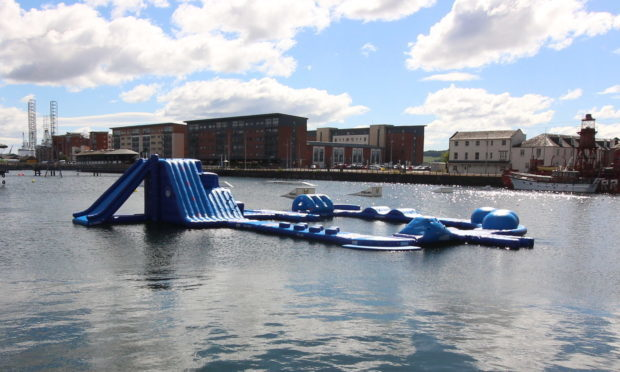 The inflatable at Dundee City Quay