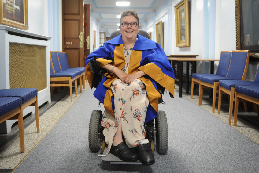 Yvonne Grant - who accepted an honorary degree on behalf of her mother Margaret Grant.
