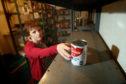 Judy Hamilton at Kirkcaldy Foodbank.