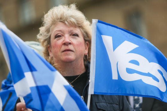 Kate Young, one of the protesters in City Square Dundee.