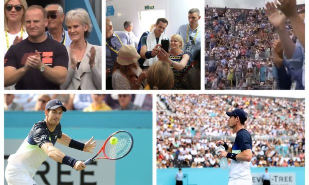 846b41c9c Getty Tennis TV Sir Andy Murray returns to the court to applause at Queens