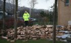 The collapsed wall at Oxgangs Primary in Edinburgh which has prompted a £100K survey in Perth and Kinross.