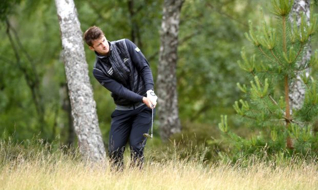 David Law came oput of the rough to retain the lead at the SSE Scottish Hydro Challenge.