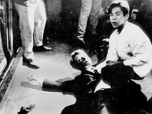 Senator Robert Kennedy after being shot in 1968