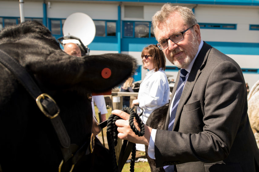 Secretary of State for Scotland David Mundell at the show.