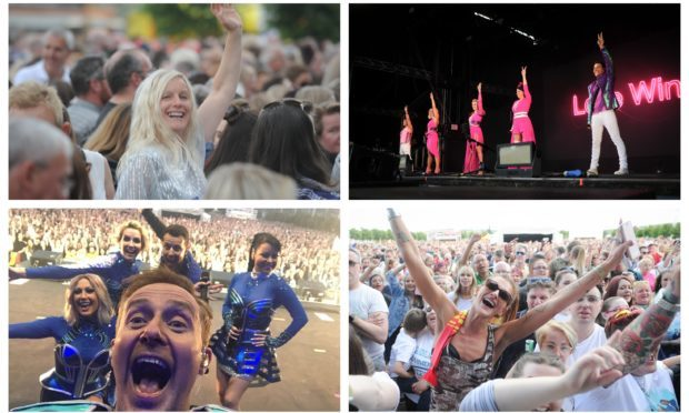 Steps performed to thousands of people at Slessor Gardens.