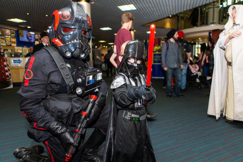 Steven Bonnet as a Star Wars imperial agent & Callum Blair (4) as Darth Vader